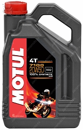 Motul 7100 20W50 масло моторное 4T 100% Syntetic Ester 4 литра (104104)